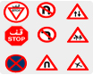 Road signs in Dubai